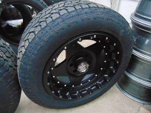 *6 LUG* Satin Black 20X10 Centerline Rims 275 55 20 All Terrain Tires for Sale in Aurora, CO