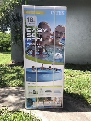 "Intex Easy Set 18ft 18' x 48"" Above ground Pool Summer Waves Quick, Bestway 18ft x 48in 15ft for Sale in Fort Lauderdale, FL"