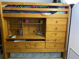 Twin Loft/Bunk bed with desk, dresser, trundle and lots of storage for Sale in Midlothian, VA