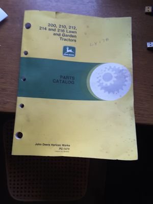 John Deere Lawn Tractor parts catalog for Sale in Snohomish, WA