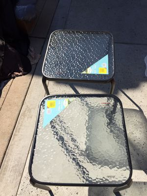 Hard glass side tables for Sale in Fresno, CA