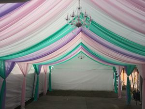 Tables chairs canopy draping for Sale in San Jose, CA