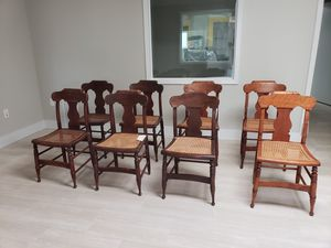 8 antique cane chairs for Sale in Dallas, TX