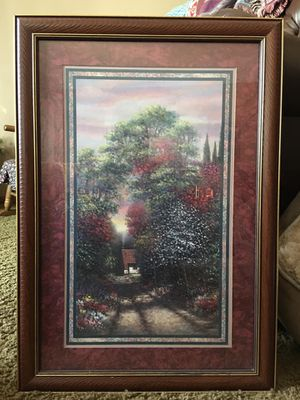 """Vintage Home Interiors """"Cottage in the Woods"""" picture By Joe Sambataro Framed and Matted Art Print for Sale in Buffalo, MN"""