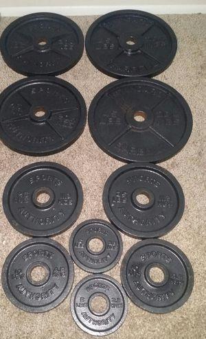 "Olympic 2"" iron weights. 260lbs. 4x45lbs, 2x25lbs, 2x10lbs, 2x5lbs. for Sale in Coconut Creek, FL"