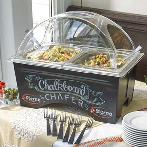 Commercial chalk board chafing dish for Sale in Puyallup, WA