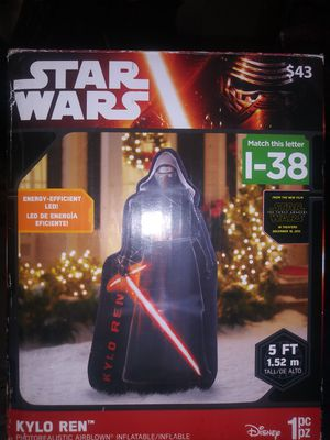 Star wsrs Kylo REn 5ft inflatable 35 obo... for Sale in San Antonio, TX