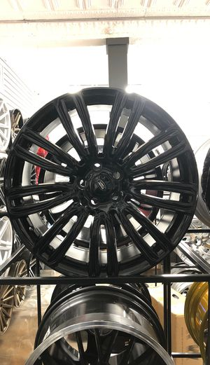 "22"" gloss black Range Rover style wheels rims tires Land Rover autobiography hse sport long base discovery evoque velar svr lr3 lr4 for Sale in Queens, NY"