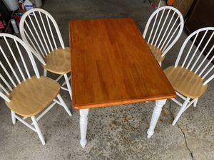 Dining table and chairs set - PICK UP TODAY ONLY FOR $60 for Sale in Springfield, VA