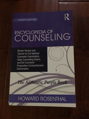 Encyclopedia of Counseling (Volume 1) 4th Edition ISBN-13: 978-1138942653, ISBN-10: 1138942650 for Sale in Walnut, CA