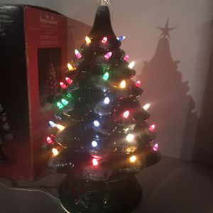 Vintage Ceramic Lighted Christmas Tree with original Box for Sale in Plainfield, IL