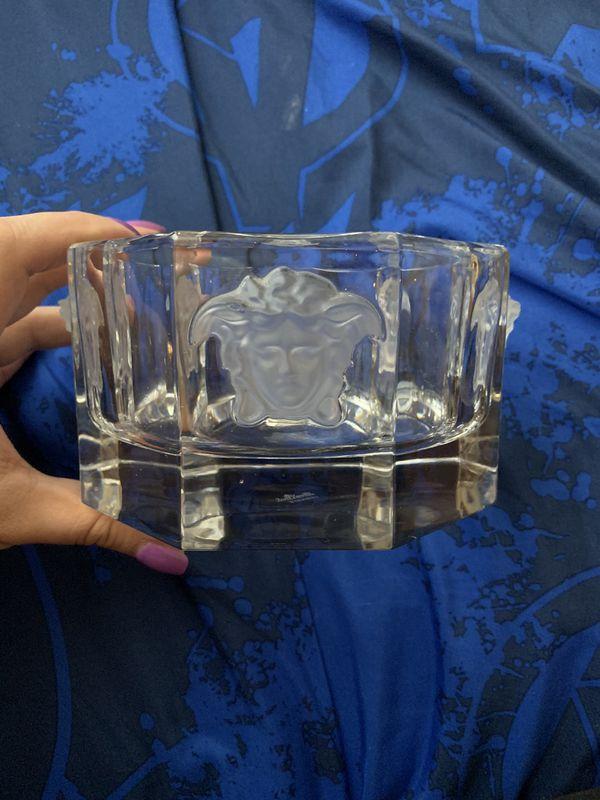 Versace/Rosenthal Crystal 'Medusa Lumiere' Bottle Coaster