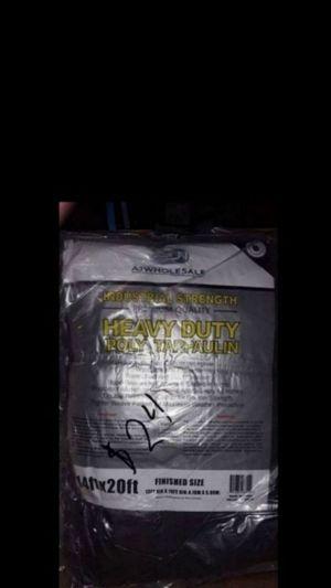 Gray Heavy Duty Tarp 14x20 $24 for Sale in Fontana, CA
