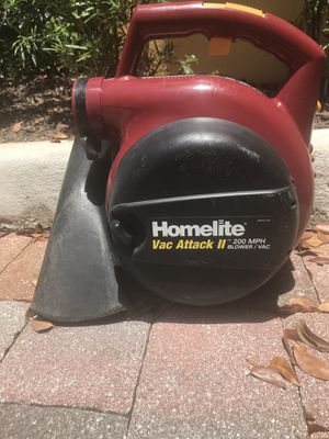 LEAF BLOWER - HomeLite Vac Attack II for Sale in Boca Raton, FL