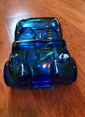 Antique/ vintage cobalt blue bottle, in the shape of a vintage speedster for Sale in Canoga Park, CA