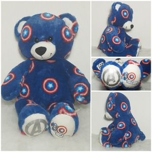 """Build A Bear Marvel Captain America 🇺🇸 Avengers 16"""" Blue Red BABW Plush Toy for Sale in Dale, TX"""