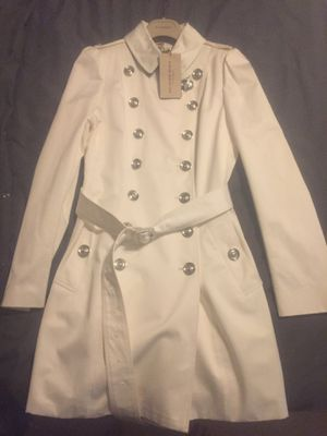Burberry ladies coat!!!! Size in picture on tag for Sale in Fairfax, VA