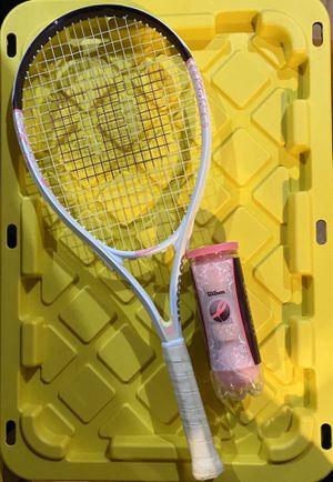 Wilson Tennis Racket and Balls for Sale in Elizabeth, NJ