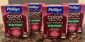 Lot of 4 Phillips' Colon Health Daily Probiotic 4-in-1 - 120 caps for Sale in Wheaton, IL