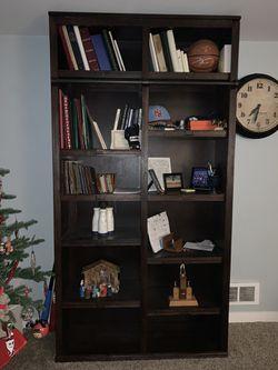 Like new world market library Adjustable shelving Cubby book shelf Bookshelf for Sale in Lakewood,  WA