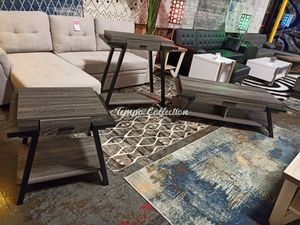 Stylish 3 PC Console, End and Coffee Table Set, Distressed Grey, SKU# ID182338SET for Sale in Norwalk, CA