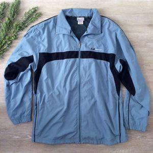 Men's XL 90's Vintage Reebok Dusty Blue Windbreaker Jacket for Sale in San Diego, CA