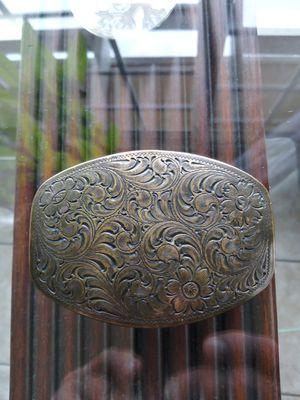 General..Look!! Western 1994 Floral Pattern Metal Belt Buckle.nice. for Sale in Lincoln Acres, CA