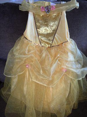 Disney Princess Belle dress sz. S/P (4-6x) for Sale in San Antonio, TX