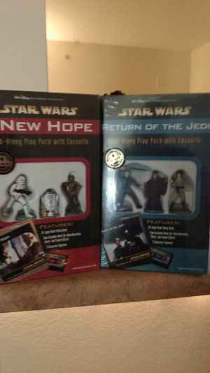 Walt Disney Star Wars A New Hope and Return of the Jedi read along play pack w/cassette never opened still in original packaging for Sale in Watauga, TX