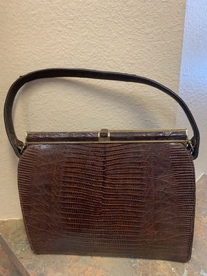 Vintage Youngman 1950's Genuine Lizard Handbag for Sale in Tampa, FL