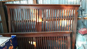 King-size headboard and and footboard and side rails for Sale in Oak Hills, CA