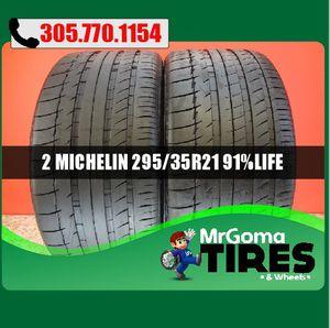 2 MICHELIN LATITUDE SPORT N1 XL 295/35/21 USED TIRES 91.1% LIFE PORSCHE 2953521 for Sale in Miami, FL