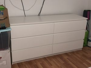 "IKEA ""Malm"" 6-Drawer White Dresser for Sale in Miami, FL"