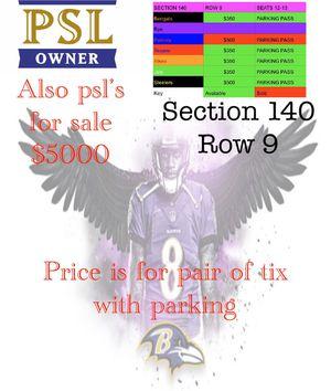 Ravens psl & tix for Sale in Shrewsbury, PA