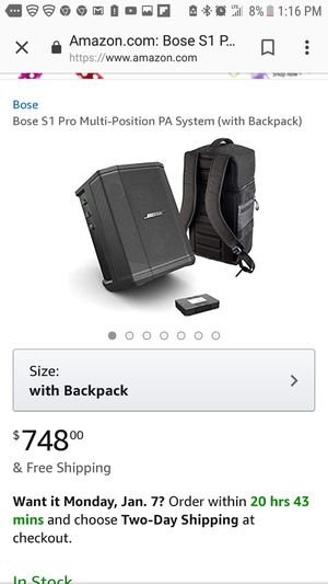 Bose speaker Pro 1 Bluetooth doesn't come with the backpack for Sale in Pomona, CA