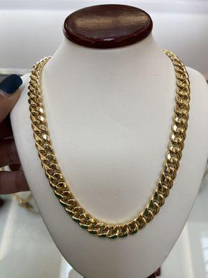 10k gold Miami Cuban chain, 46 grams for Sale in Plano, TX
