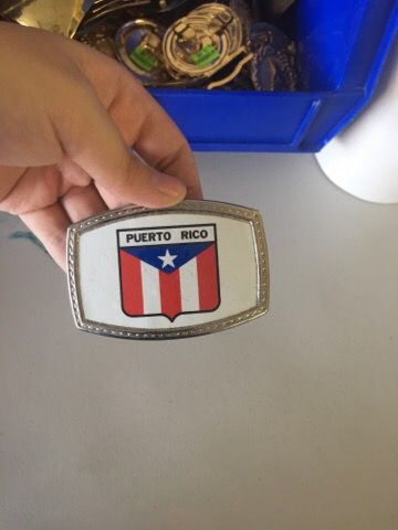 Puerto Rico Belt Buckle