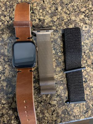 Apple Watch Series 4, 44mm Stainless Steel Gold Cellular for Sale in Seattle, WA