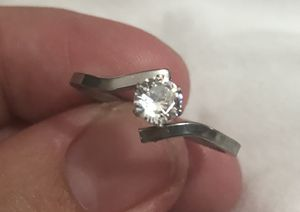 Stainless steel silver promise wedding ring for Sale in East St. Louis, IL