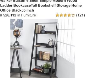 4 Shelf Moser Wood Ladder Book Case New for Sale in Lockport,  IL