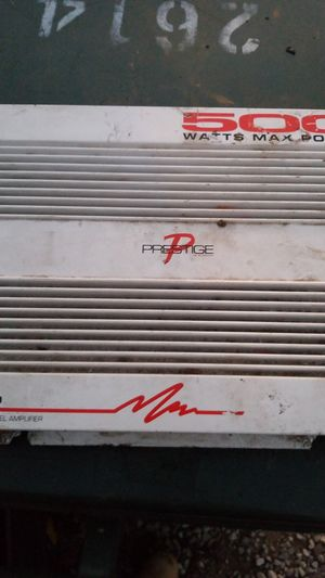 PA- 460 4~3~2 channel amp 500 watts Prestige for Sale in Columbus, OH