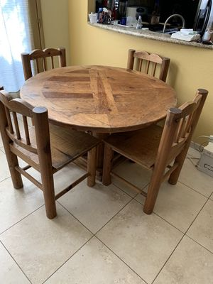 Southwest style hand-crafted dining set for Sale in Desert Hot Springs, CA