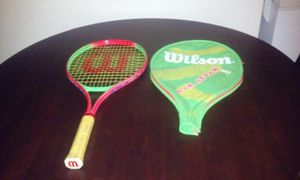 Tennis racket with cover for Sale in Baltimore, MD
