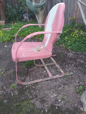 Antique All Steel framed rocking chair 70 years old for Sale in Mountain View, CA