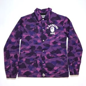 Bape A Bathing Ape Purple Camo Coach Coaches Jacket Size S Small for Sale in Tracy, CA