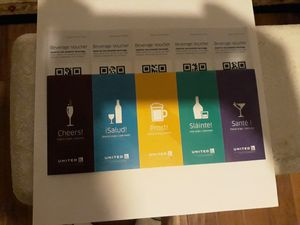 10 United Drink Vouchers - expiration 01/31/2020 for Sale in Ontario, CA
