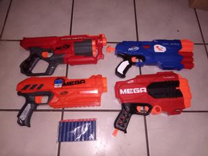 Nerf Mega Lot 4 Guns for Sale in Miami, FL