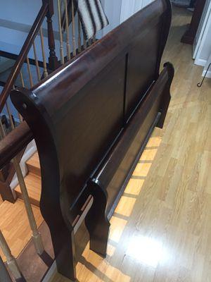 Wood bed frame for Sale in Lancaster, CA
