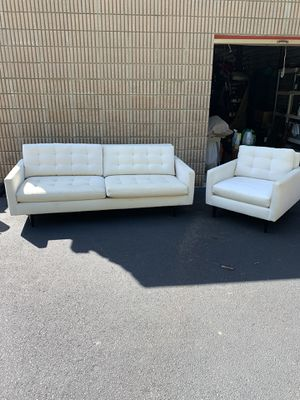 Crate and barrel couch and chair for Sale in Acworth, GA
