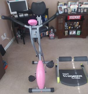 Exercise Bike and Ab Core Workout for Sale in Greenville, SC